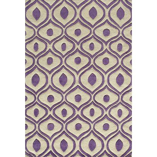 Momeni Bliss Purple Tufted Rug