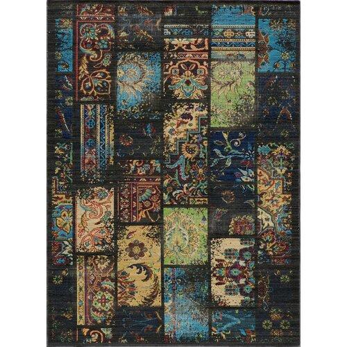Momeni Vintage Charcoal Patchwork Rug