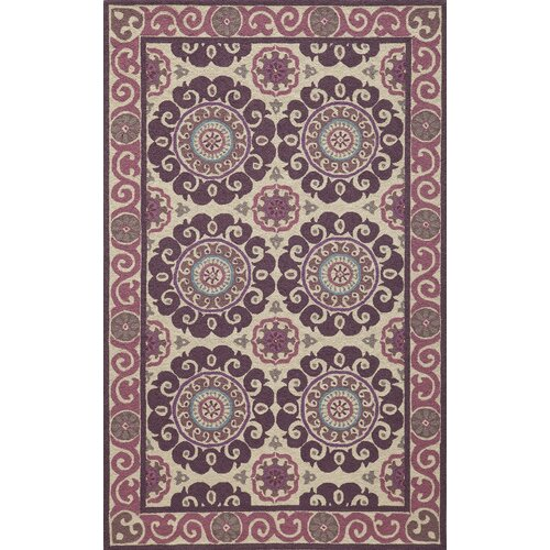 Suzani Hook Purple Rug