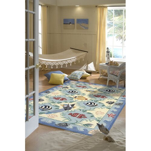 Momeni Coastal Blue Novelty Rug
