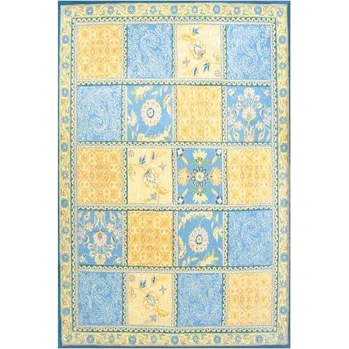 Wildon Home ® Persian Tile Aqua Rug