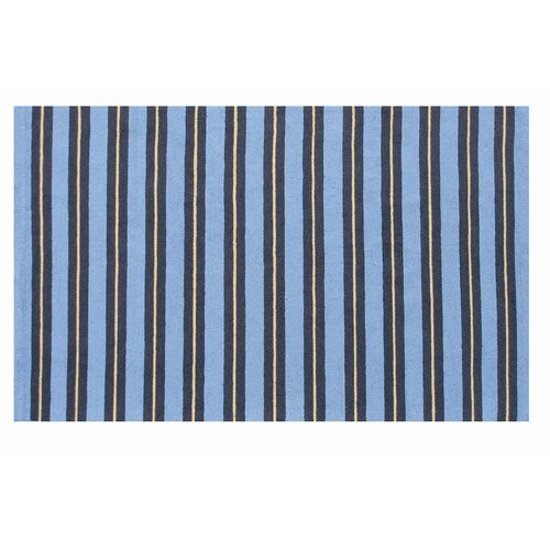 The Rug Market Resort Spindle Stripe Blue / Yellow Outdoor Rug