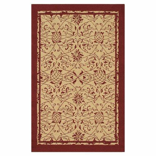 Wildon Home ® Premium Heritage Red Outdoor Rug