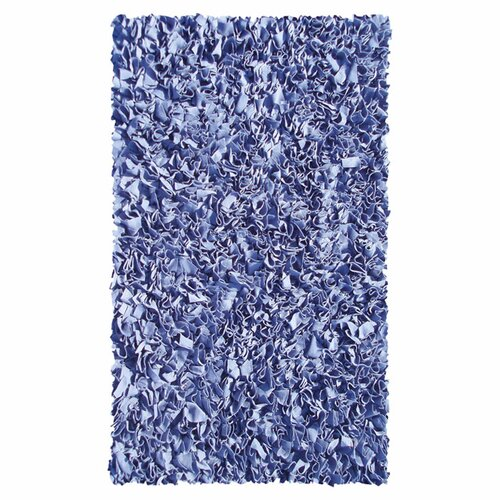 Wildon Home ® Shaggy Raggy Dark Blue Rug