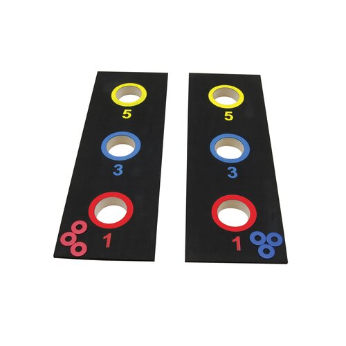 Triumph Sports USA 2 in 1 Bag Toss Tournament and 3 Hole Washer Toss Game Set