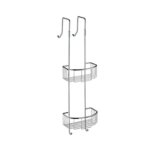 Smedbo Sideline Corner Double Soap Basket in Polished Chrome