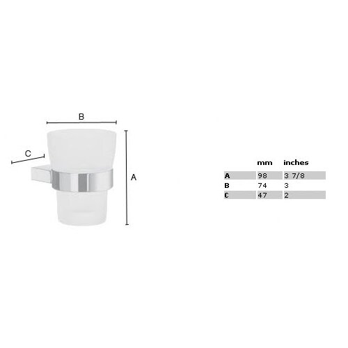 Smedbo Air Frosted Glass Tumbler Holder