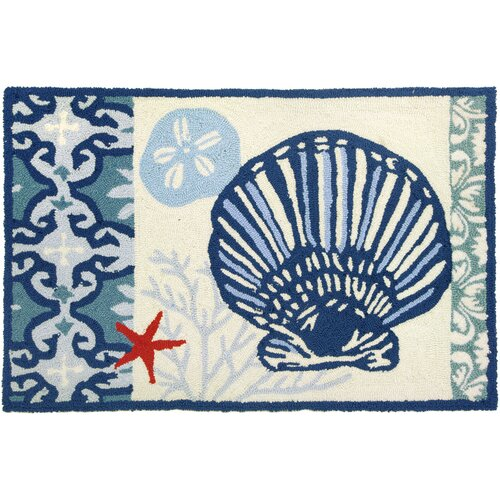 Italian Tile With Clam Shell Rug