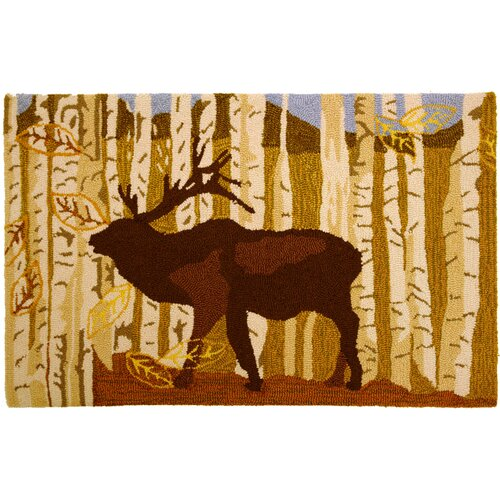 Birch and Elk Rug