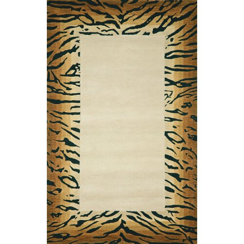 Seville Brown Tiger Border Rug