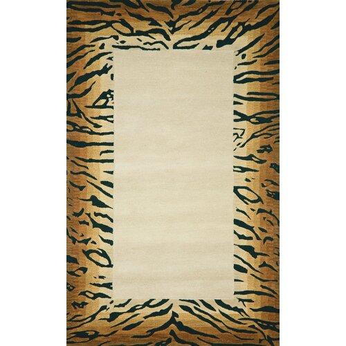 Seville Brown Tiger Border Rug