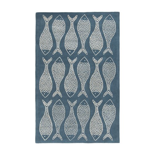 Lighthouse Teal Blue/Ivory Rug