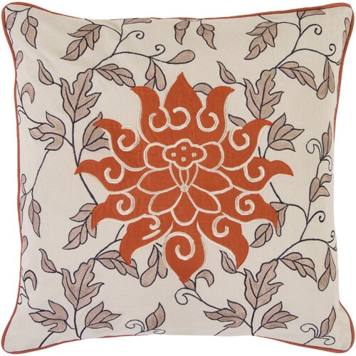 Surya Sun and Leaves Pillow