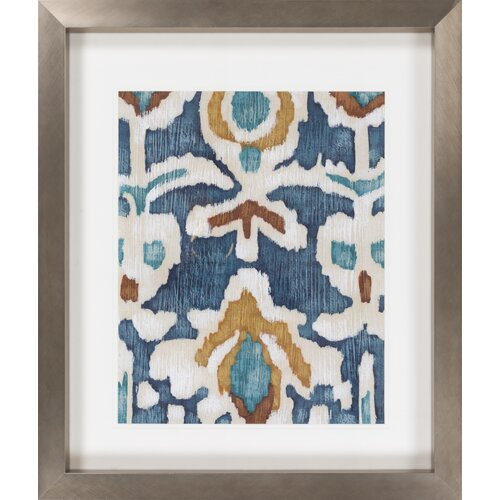Surya Ocean Ikat I by Vision Studio Framed Graphic Art