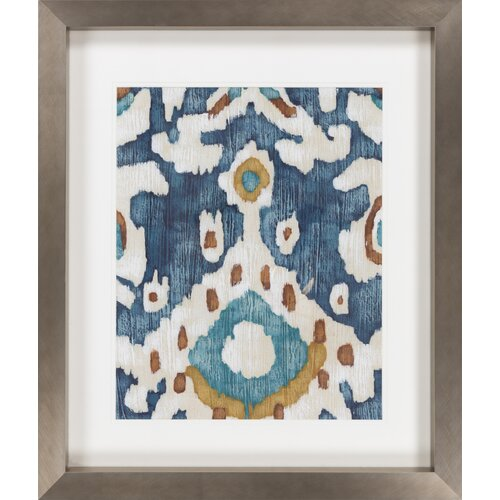 Ocean Ikat II by Vision Studio Framed Graphic Art