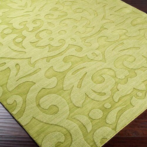 Surya Mystique Lime Green Floral Area Rug Amp Reviews Wayfair