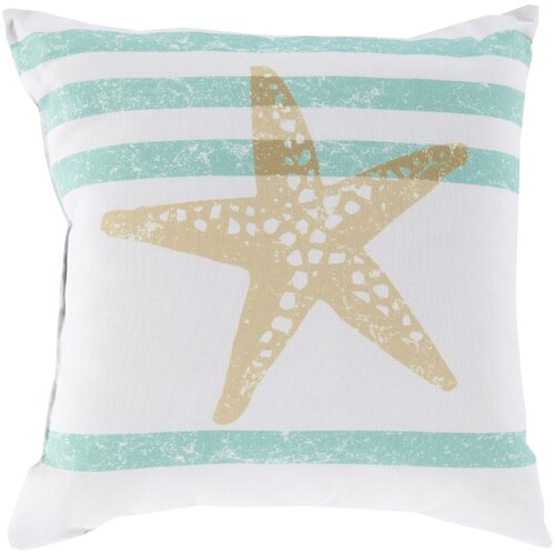 Stripes and Starfish Pillow