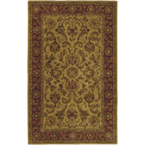 Ancient Treasures Gold/Red Rug