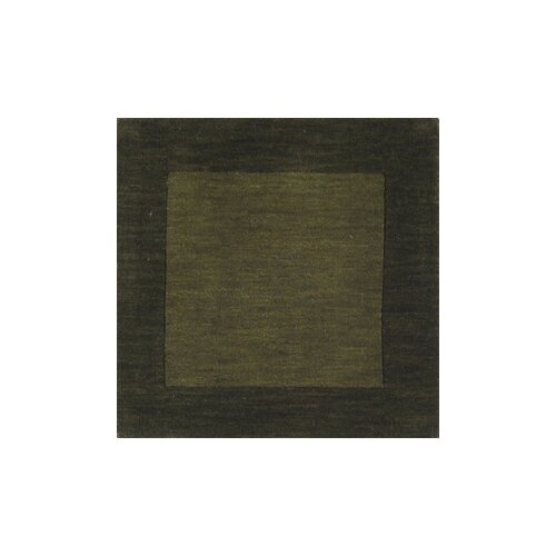 Mystique Dark Green Border Rug