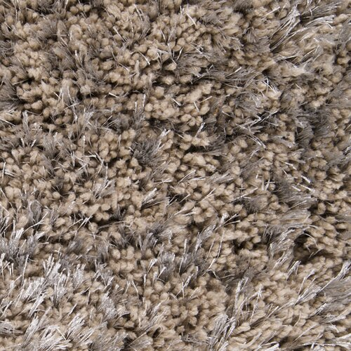 Surya Grizzly Taupe Polyester Shag Rug