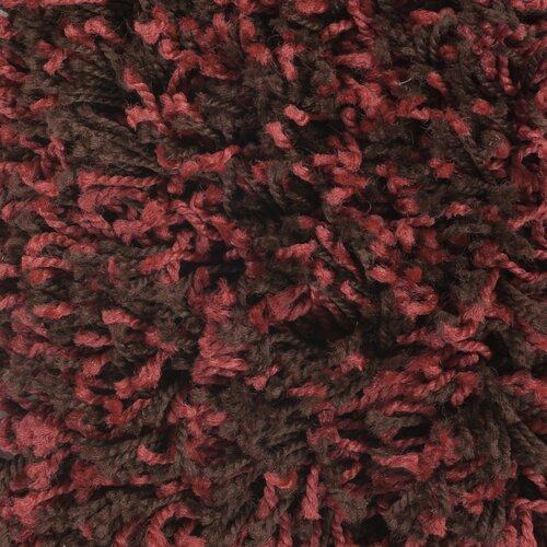 Surya Luxury Shag Brick Red/Dark Chocolate Rug