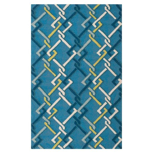 Rain Peacock Blue Indoor/Outdoor Rug