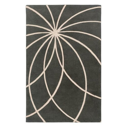 Forum Iron Ore/Antique White Rug