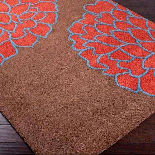Surya Artist Studio Brown/Sky Red Rug