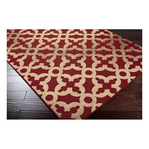Surya Harmony Red / Taupe Rug
