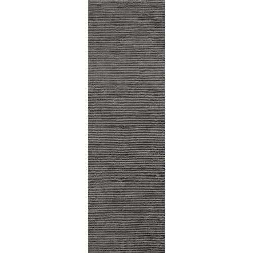 Graphite Iron Ore Striped Rug