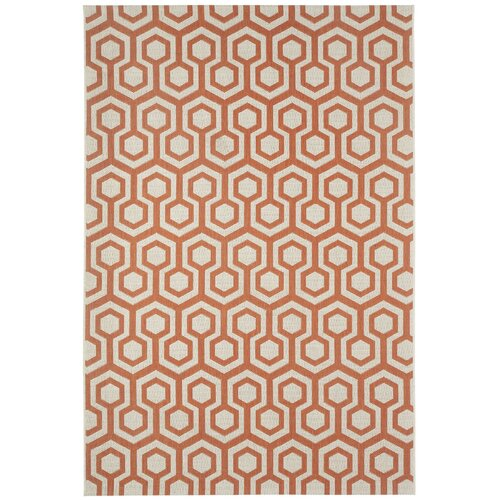 Elsinore Cinnamon Honeycombs Indoor/Outdoor Rug