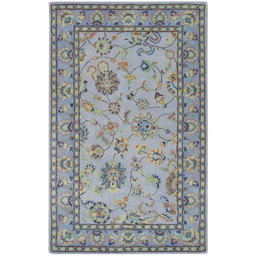Grey Floral Area Rug Wayfair