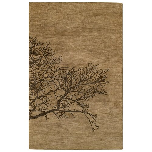 Desert Plateau Shadow Branch Tree Bark Rug