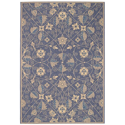 Capel Rugs Elsinore Garden Maze Blue Indoor/Outdoor Rug