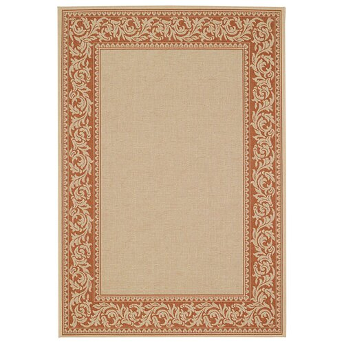 Capel Rugs Elsinore Scroll Potters Clay Indoor/Outdoor Rug