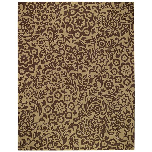 Gaston Floral Lace Cocoa Indoor/Outdoor Rug
