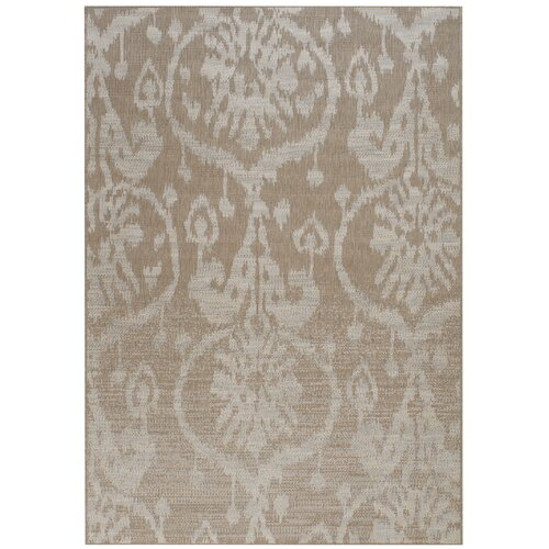 Capel Rugs Udorn Tan Sunburst Indoor/Outdoor Rug