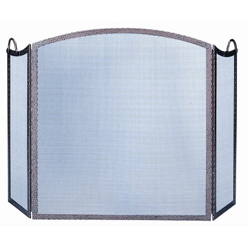 Uniflame Corporation 3 Panel Embossed Arch Fireplace Screen