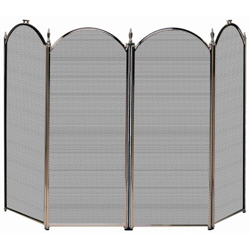 Uniflame Corporation 4 Panel Fireplace Screen