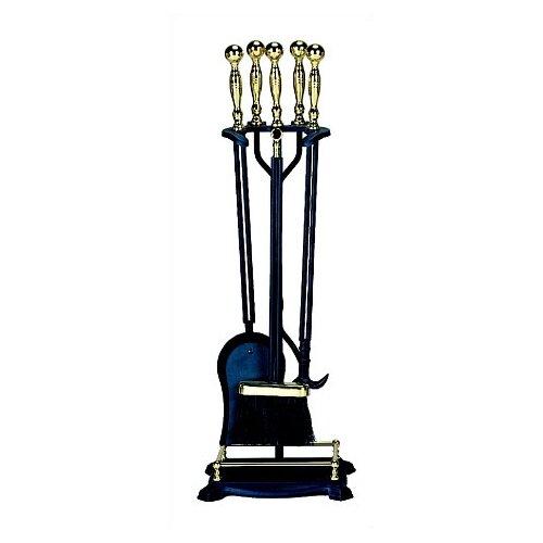 Brass/Black Firetools w/ Double Rod