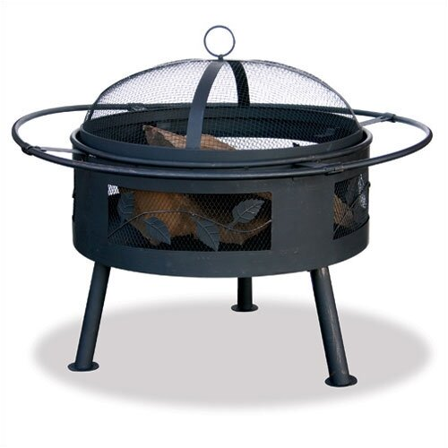 Outdoor Fire Pit with Leaf Design