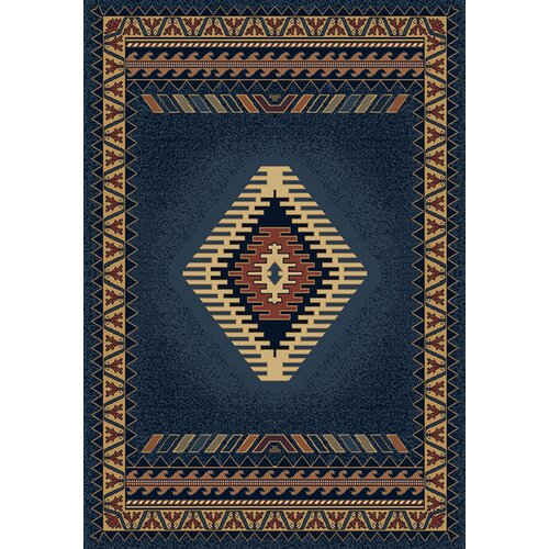 Manhattan Tucson Blue/Red Rug