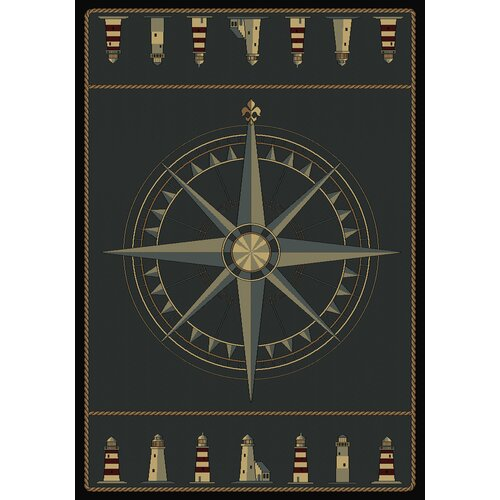 Contours Compass Novelty Rug