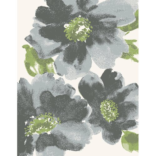 Infinity Gray Floral Area Rug Wayfair