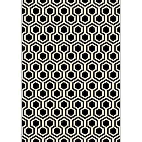 Black And White Geometric Kitchen Rug: Dynamic Rugs Trend Black Geometric Area Rug & Reviews