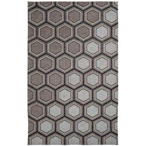 Element Grey / White Geometric Rug