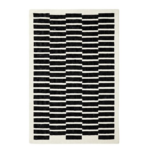 Dynamic Rugs Leather Work Ivory/Black Rug