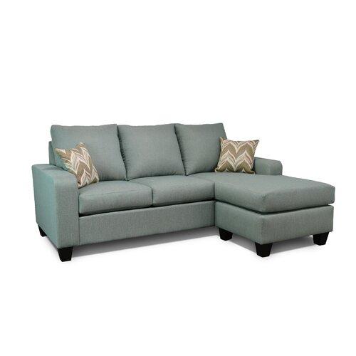 Gray leather sofa wayfair for Gray sectional sofa wayfair