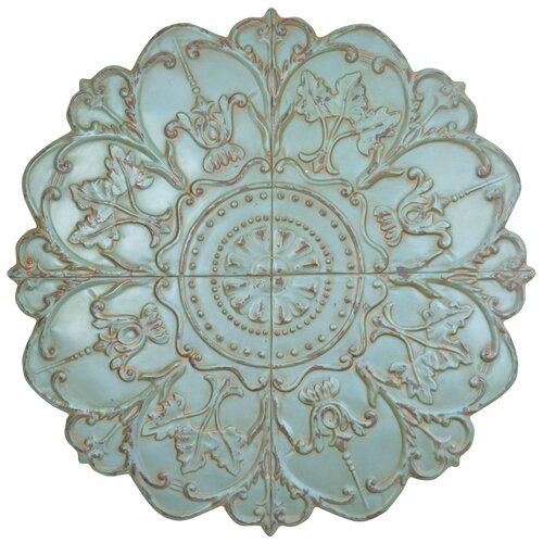 Teal Medallion Wall Decor : Stratton home decor sea foam medallion wall d?cor