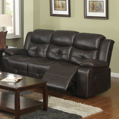 Park Avenue Reclining Sofa with Drop Down Table